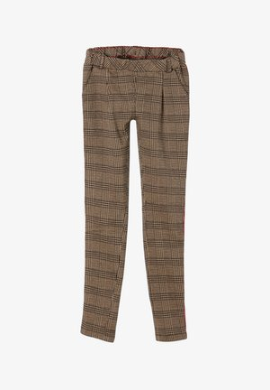 MIT GLENCHECK-MUSTER - Trousers - brown