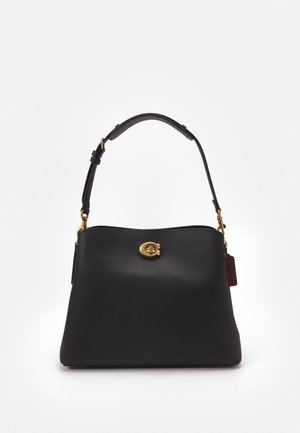 POLISHED PEBBLE WILLOW SHOULDER BAG - Handtas - black