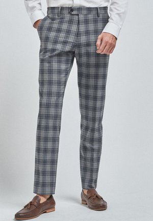 CHECK - Suit trousers - light grey