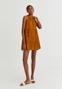 PULL&BEAR - Day dress - mottled beige - 3