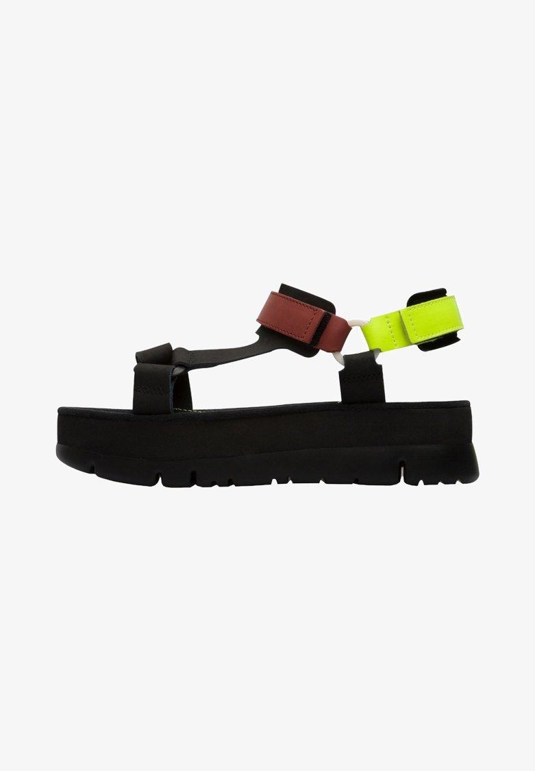 Camper - ORUGA UP - Sandaalit nilkkaremmillä - black