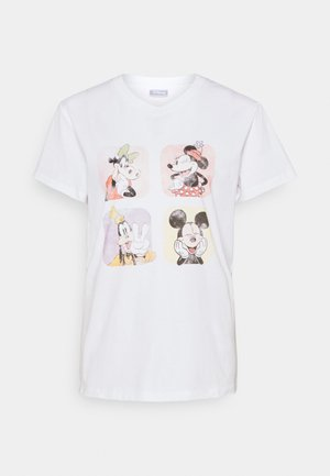 CLASSIC TEE - Print T-shirt - silver/light grey