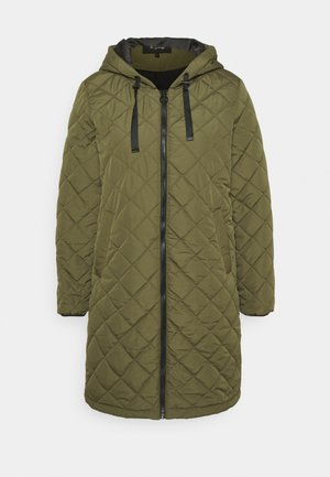 ONLSANNE QUILTED LONG JACKET - Classic coat - kalamata