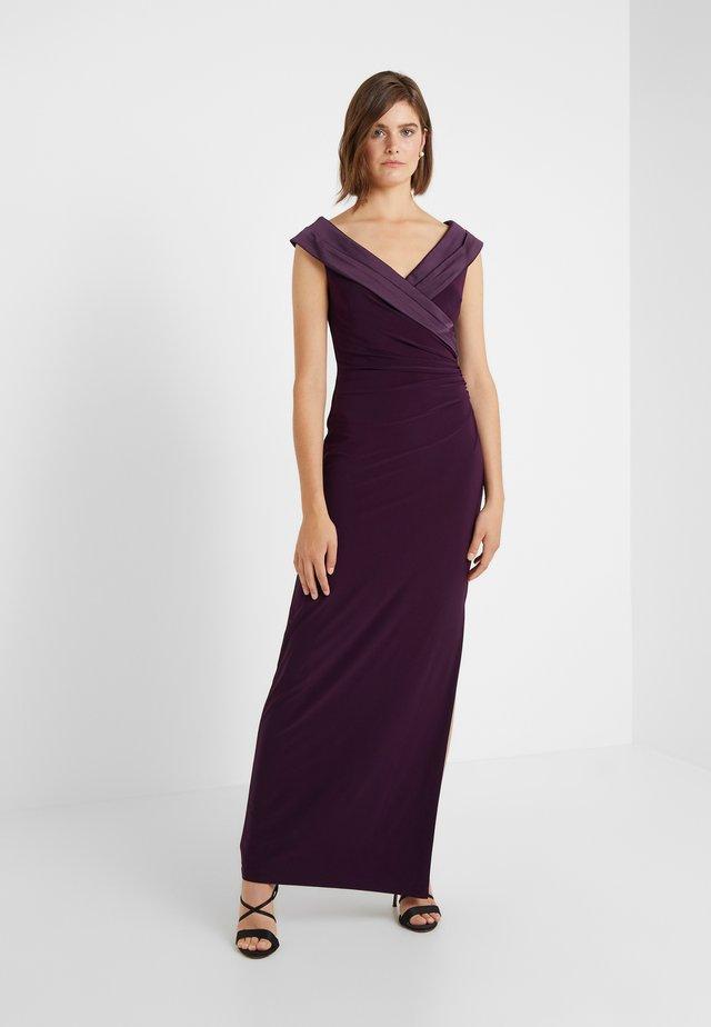 MID WEIGHT LONG GOWN COMBO - Společenské šaty - raisin