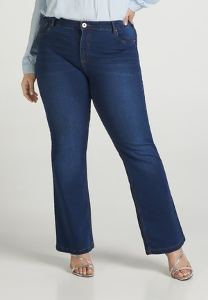 ANNA - Bootcut jeans - blue denim