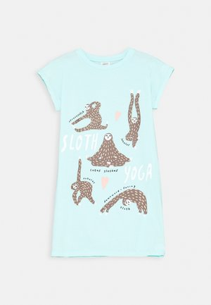 TEEN NIGHTGOWN PLACED YOGA SLOTH - Noční košile - light aqua