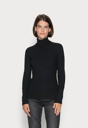 LONG SLEEVE TURTLE NECK SLIM FIT - Long sleeved top - black