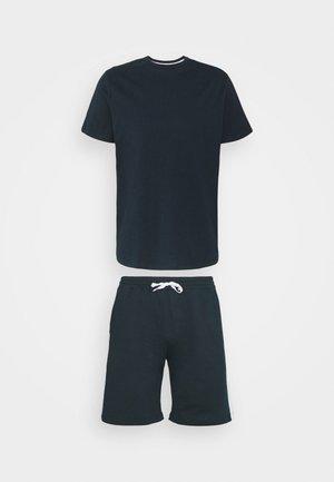 SIDE STRIPE TEE SHORT SET - Pyjamas - navy blue