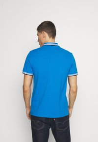 TOM TAILOR - WORDING TIPPING - Polo - electric teal blue - 2