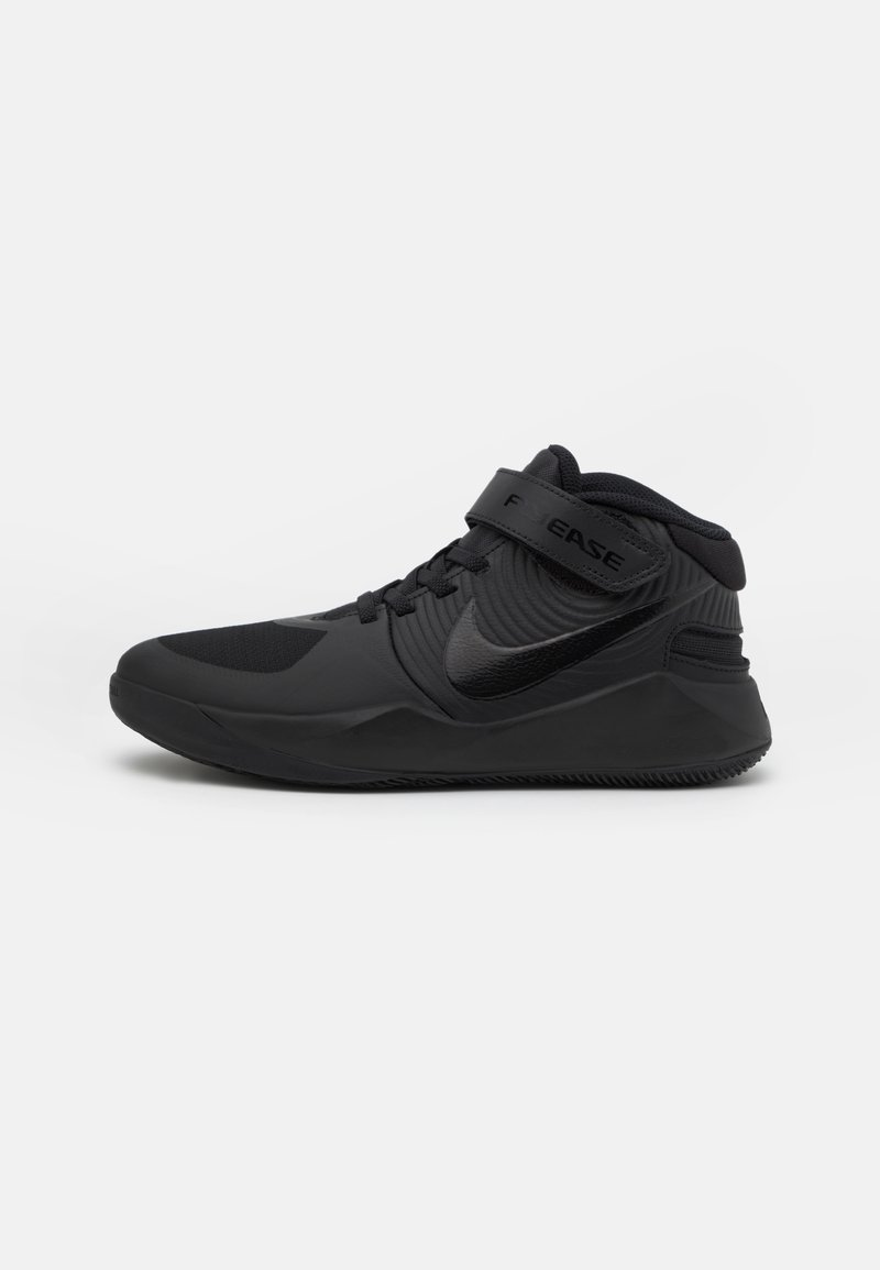 Nike Performance - TEAM HUSTLE D 9 FLYEASE UNISEX - Zapatillas de baloncesto - black/dark smoke grey/volt