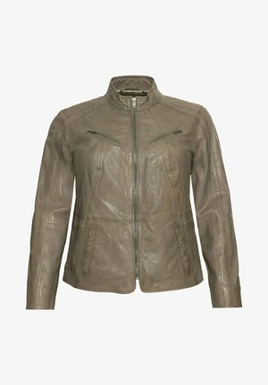 Leather jacket - hellkhaki