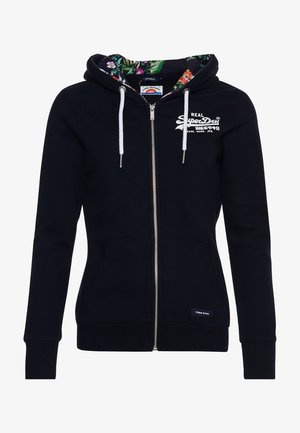 VINTAGE LOGO - Zip-up hoodie - dark blue