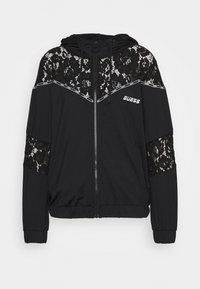 Guess - HOODED JACKET ZIP - Zip-up hoodie - jet black - 0