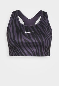 Nike Performance - PLUS SIZE BRA - Sujetadores deportivos con sujeción media - dark raisin/white - 0