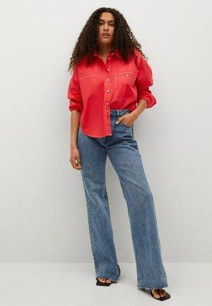 Button-down blouse - rouge