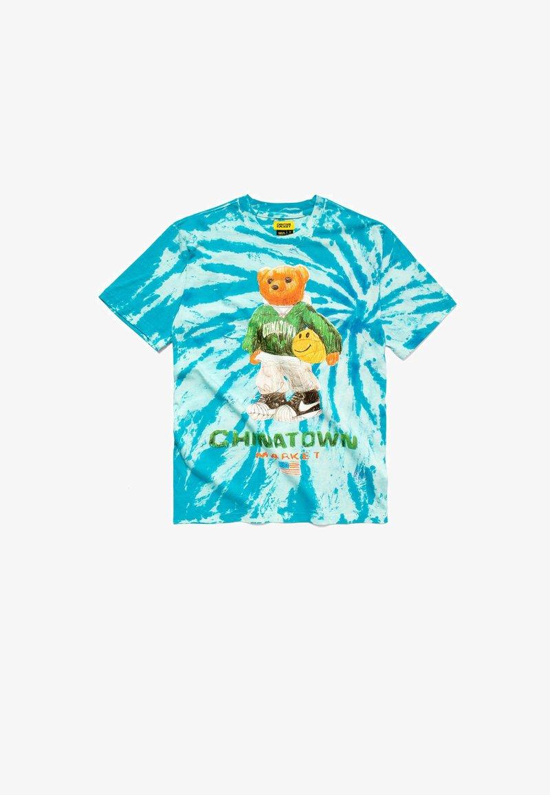 Chinatown Market - BASKETBALL BEAR  - Print T-shirt - blue