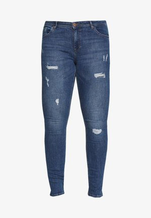 CARCARMA REGULAR SLIM  - Slim fit jeans - medium blue denim