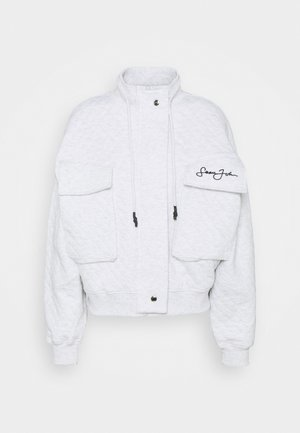 SJXMG QUILTED CROP JACKET - Bombejakke - grey marl