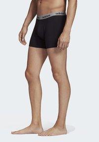 adidas Performance - BRIEFS 3 PAIRS - Panties - black - 4