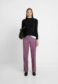 Calvin Klein - FINE CIGARETTE PANT - Trousers - purple - 1
