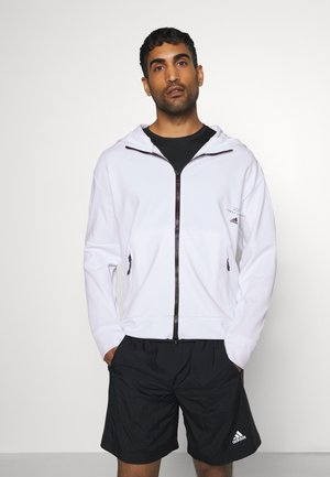 MUST HAVES ENHANCED AEROREADY HOODED - Zip-up hoodie - white