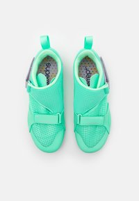Nike Performance - SUPERREP CYCLE - Cycling shoes - green glow/dark smoke grey/infinite lilac/laser orange - 3