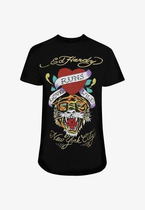 WILD-LOVE T-SHIRT LADIES - Print T-shirt - black
