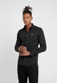 Emporio Armani - CAMICIA - Camisa - black - 0