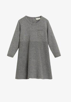 MALENA - Gebreide jurk - gris chiné moyen