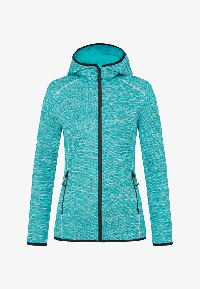 Fleece jacket - turquoise