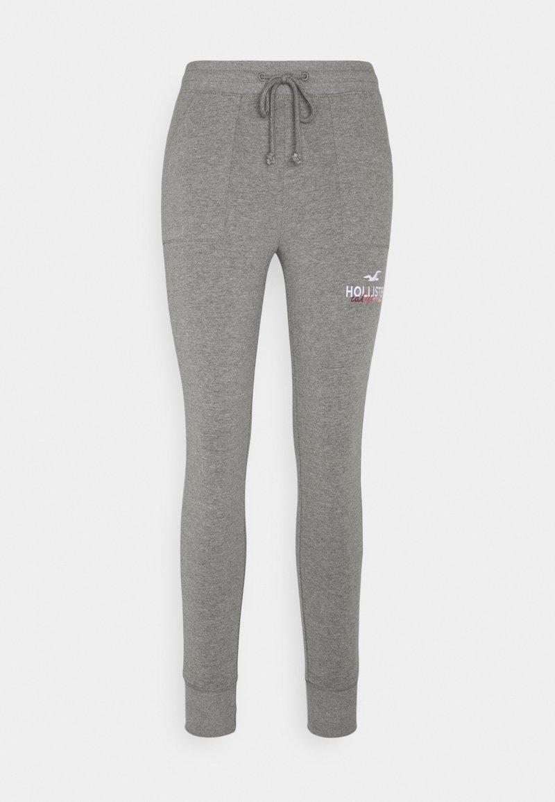 Hollister Co. - LOGO FLEGGING - Leggings - medium grey patch pockets