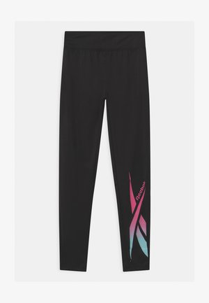 LOGO - Leggings - black/pink