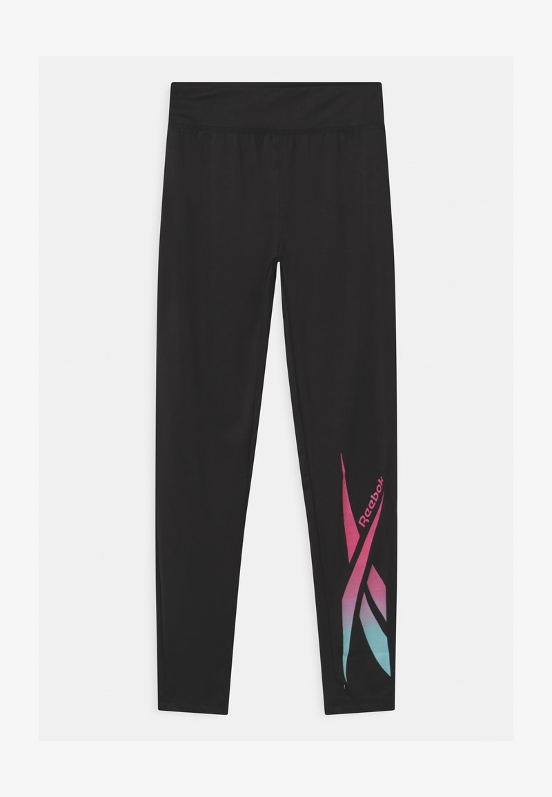 Reebok - LOGO - Collants - black/pink
