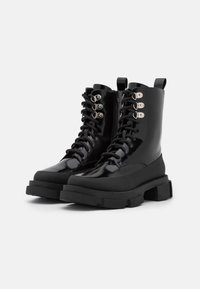 TWINSET - ANFIBIO FONDO COMBAT - Lace-up ankle boots - nero - 2