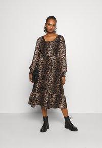ONLY - ONLLEA MIDI DRESS  - Day dress - black - 1
