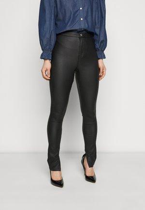 COATED SPLIT VICE - Trousers - black