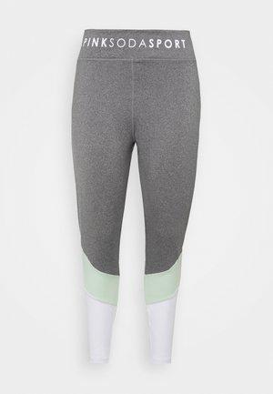SPLICE PLUS - Leggings - grindle/green/white