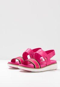 Cole Haan - GLOBAL DOUBLE BAND  - Platform sandals - fuschia/purple/multicolor - 4