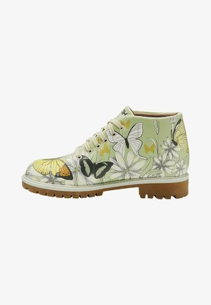 Lace-up ankle boots - multicolor