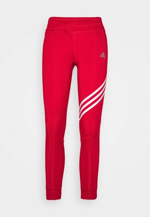 RUN IT 3-STRIPES 7/8 LEGGINGS - Punčochy - scarlett