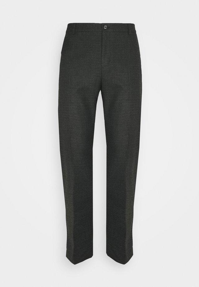 CHECK STRETCH PANTS - Bukse - grey