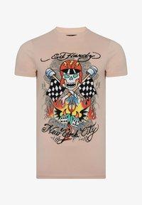 Ed Hardy - SKULL-RACER T-SHIRT - Print T-shirt - dusty pink - 2