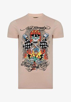 SKULL-RACER T-SHIRT - Print T-shirt - dusty pink