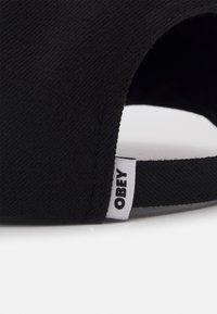 Obey Clothing - SERGE PANEL STRAPBACK UNISEX - Lippalakki - black - 3