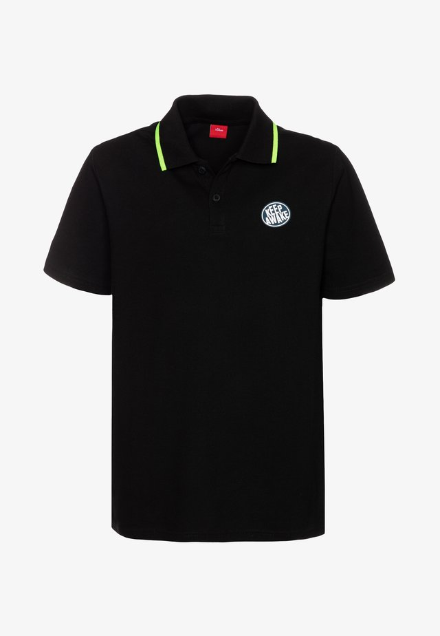 KURZARM - Poloshirts - black