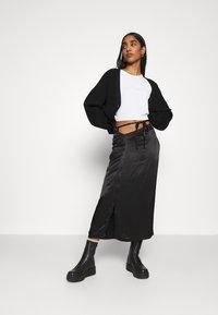 Weekday - TYRA SKIRT - A-line skirt - black - 1