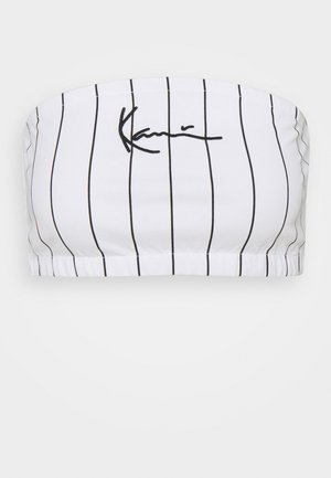SMALL SIGNATURE PINSTRIPE BANDEU - Top - white