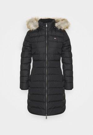 ESSENTIAL HOODED COAT - Down coat - black
