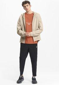 Puma - Zip-up hoodie - pale khaki - 1