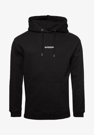 MICRO LOGO BOX FIT - Jersey con capucha - black